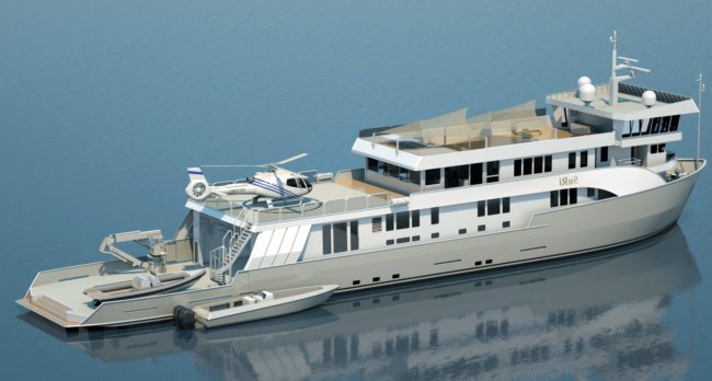 Bay Ship and Yacht Co awarded the contract to lengthen the expedition yacht SuRi by adding a 36 foot mid-body hull and superstructure plug for a new overall length of 208 feet.