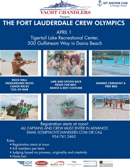 The Yacht Chandlers Fort Lauderdale Crew Olympics